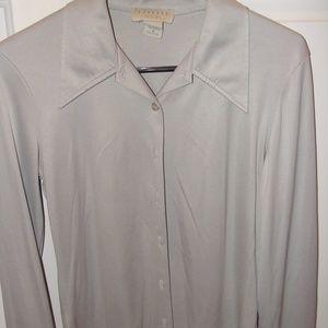 Express size medium gray/silver blouse